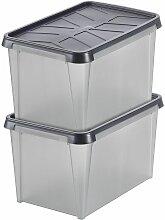 Lot de 2x Boîte de rangement Dry | 45 l |