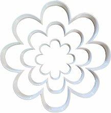 Lot de 3 emporte-pièces en forme de fleur,