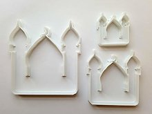 Lot de 3 emporte-pièces en forme de mosquée