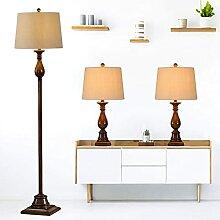 Lot De 3 Lampes (2 Lampes De Table, 1 Lampadaire),