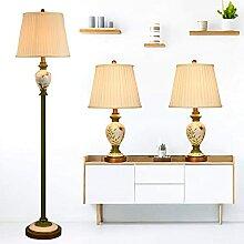 Lot De 3 Lampes, 2 Lampes De Table Et 1 Lampadaire