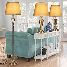 Lot De 3 Lampes De Table Et Lampadaire, Base En