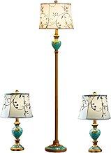 Lot De 3 Lampes, Lampadaire Classique En Résine +