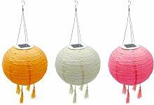 Lot de 3 lampion solaire lanterne chinoise 3