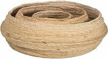 Lot de 3 paniers ronds en fibre d'abaca