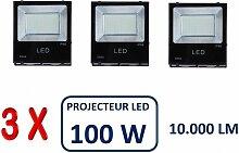 Lot De 3 Projecteurs Led Professionnel Smd 100W