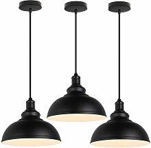 Lot de 3 Suspensions luminaires en Fer, Abat-Jour