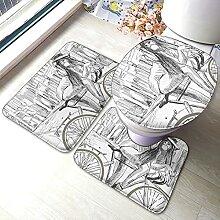 Lot de 3 tapis de salle de bain antidérapants