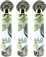 Lot de 3 Vaporisateurs Kawkab Al Sharq 300ml