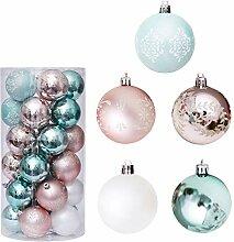 Lot de 30 boules de Noël incassables à suspendre
