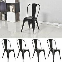 Lot de 4 chaises de salle à manger industrielles