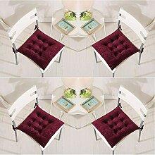 Lot de 4 Coussins de Chaise 40 x 40 cm Coussins