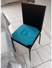 Lot de 4 Dessus de chaise 40x40 Turquoise - 4282