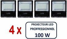 Lot De 4 Projecteurs Led Professionnel Smd 100W