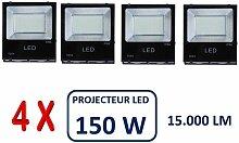 Lot De 4 Projecteurs Led Professionnel Smd 150W
