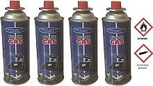 Lot de 4 Recharges Cartouche de Gaz Butane 220Gr -