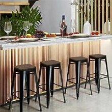 Lot de 4 Tabouret Bar Industriel Design Chaise