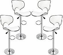 Lot De 4 -Tabouret De Bar - Chaise De Bar -