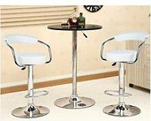 Lot de 4 tabouret de bar ergonomique chaise de bar