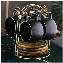 Lot de 4 tasses à café de luxe de style