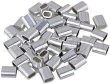 Lot de 50 pinces à fil en aluminium de forme