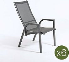 Lot de 6 fauteuils de Jardin | empilable |