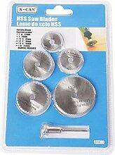 Lot de 6 mini lames de scie circulaire HSS avec