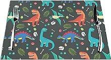 Lot de 6 sets de table avec imprimé dinosaure de