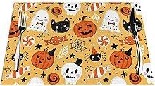 Lot de 6 sets de table imprimés Halloween -