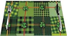 Lot de 6 sets de table imprimés patchwork