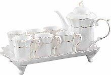 Lot de 6 sets de thé en céramique de style