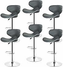 LOT DE 6 Tabourets de bar chaise fauteuil bistrot