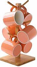 Lot de 6 tasses à café colorées en céramique
