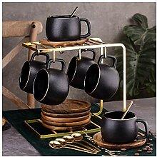 Lot de 6 tasses à café de luxe de style