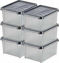 Lot de 6x Boîte de rangement Dry | 33 l |