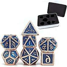 Lot de 7 cubes en métal à facettes - Avec boîte