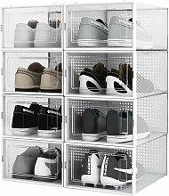 Lot de 8 Boîte à chaussures Transparentes en