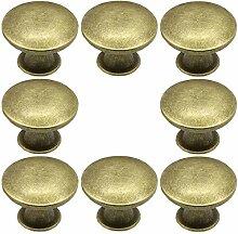 Lot de 8 boutons de meuble de cuisine ronds pour