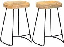 Lot de deux tabourets de bar design chaise siège