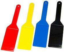Lot de spatules sérigraphiées 4 couleurs.