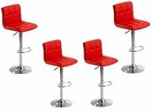 lot de tabourets de bar 6 grilles bistrot fauteuil