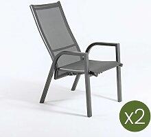 Lot de2 fauteuils de Jardin | empilable |