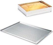 Lot plaque à pâtisserie perforée 40 cm +