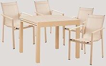 Lot Table Extensible Extensible (90cm -180cm)