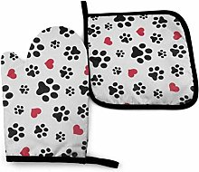 Love Cat Paw Heart Puppy Foot Print Americana Flag