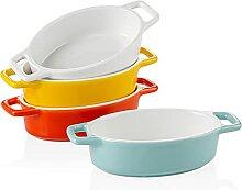 LOVECASA, Ramequin Dish Moule à Soufflé, Sets de