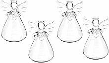 LOVIVER Lot de 4 Vase Suspendu de Verre Boule pour