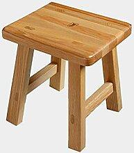 Low stool Tabouret carré en Bois Massif, Tabouret