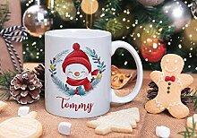 Lplpol Mug personnalisé bonhomme de neige – Mug
