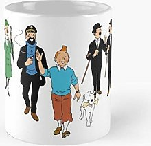 Lplpol Tintin – Mug classique en céramique pour